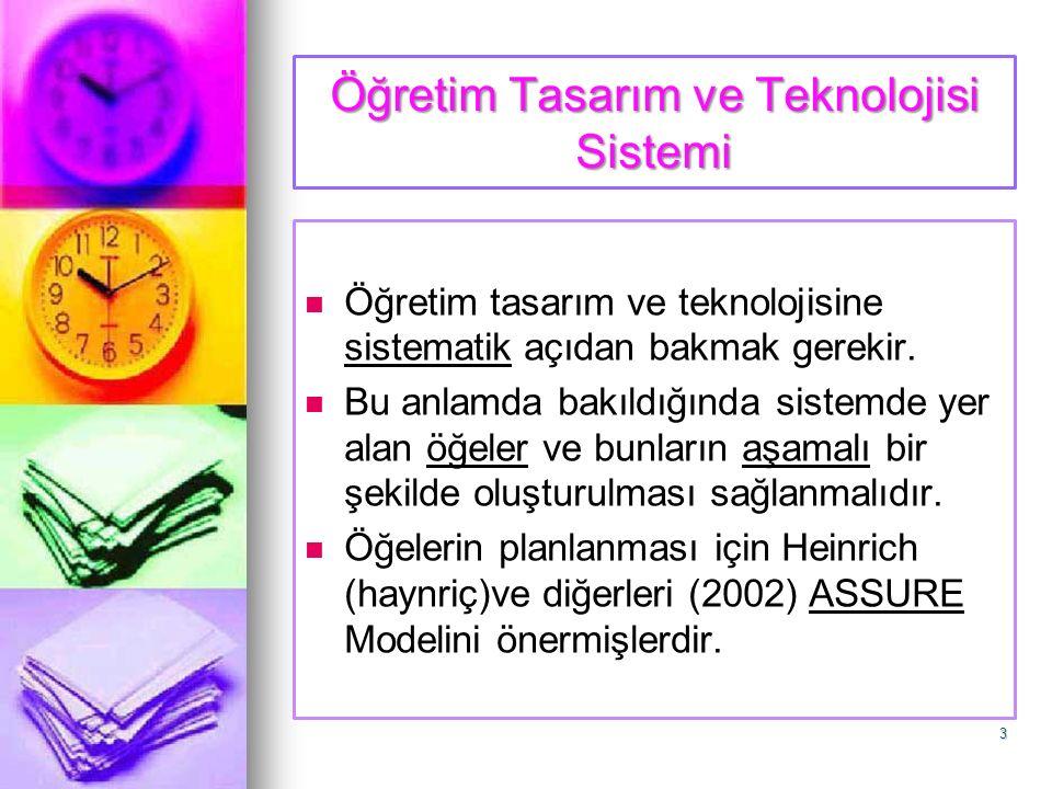Öğretim Tasarım ve Teknolojisi Sistemi