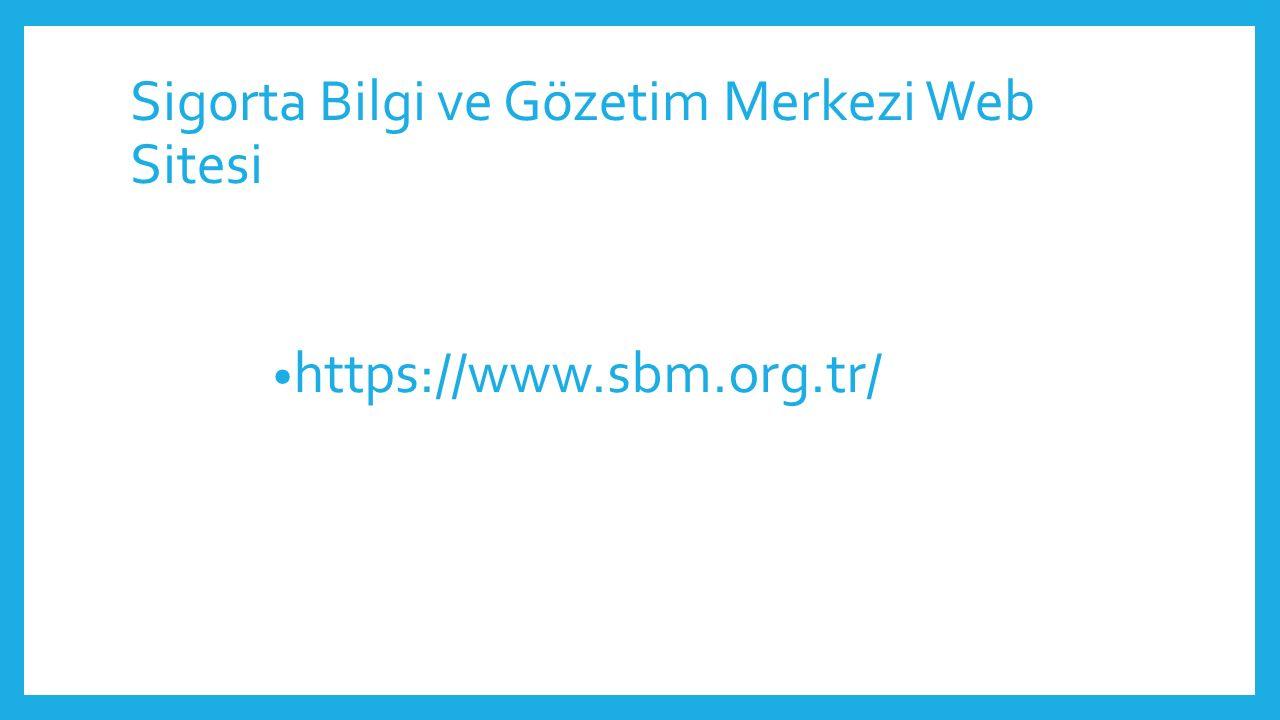 Sigorta Bilgi ve Gözetim Merkezi Web Sitesi