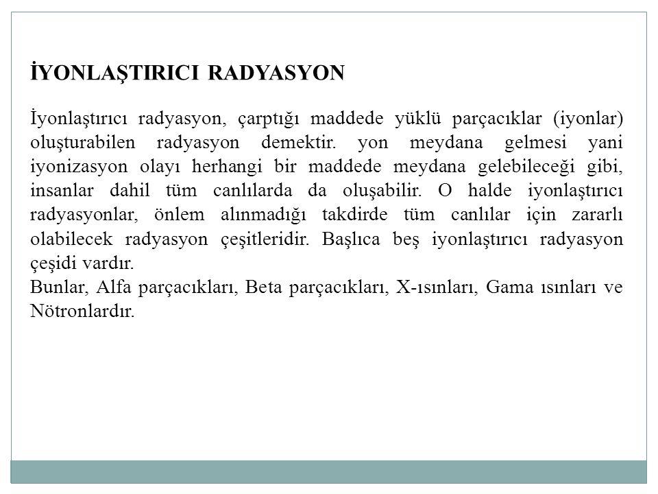 İYONLAŞTIRICI RADYASYON