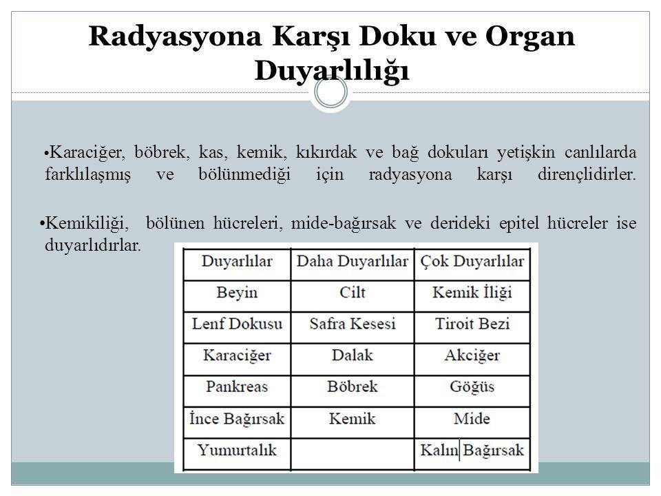 Radyasyona Karşı Doku ve Organ Duyarlılığı