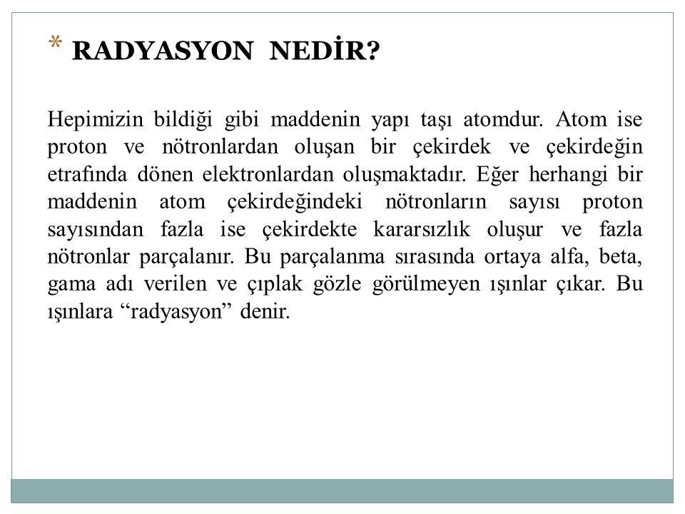 RADYASYON NEDİR
