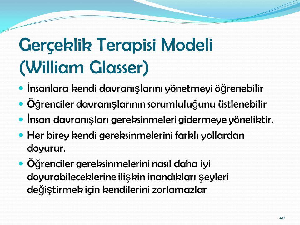 Gerçeklik Terapisi Modeli (William Glasser)