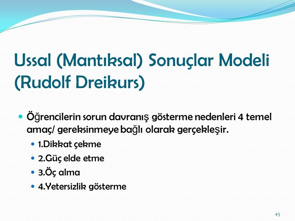 Ussal (Mantıksal) Sonuçlar Modeli (Rudolf Dreikurs)