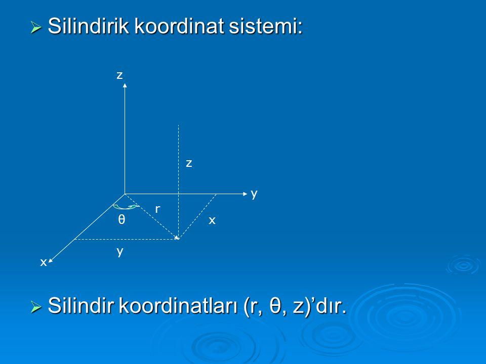 Silindirik koordinat sistemi: