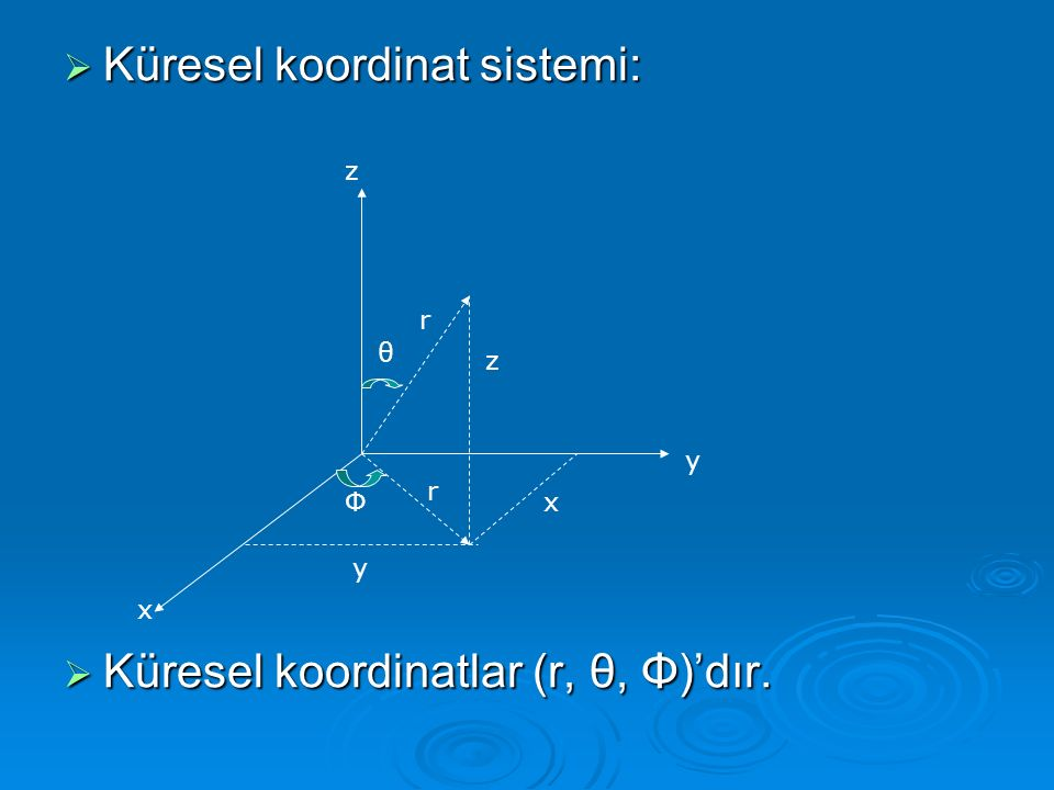 Küresel koordinat sistemi: