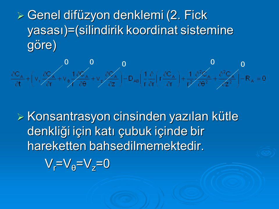 Genel difüzyon denklemi (2