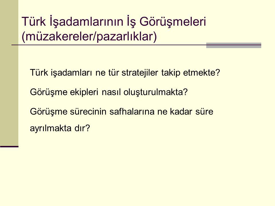 Türk işadamları ne tür stratejiler takip etmekte