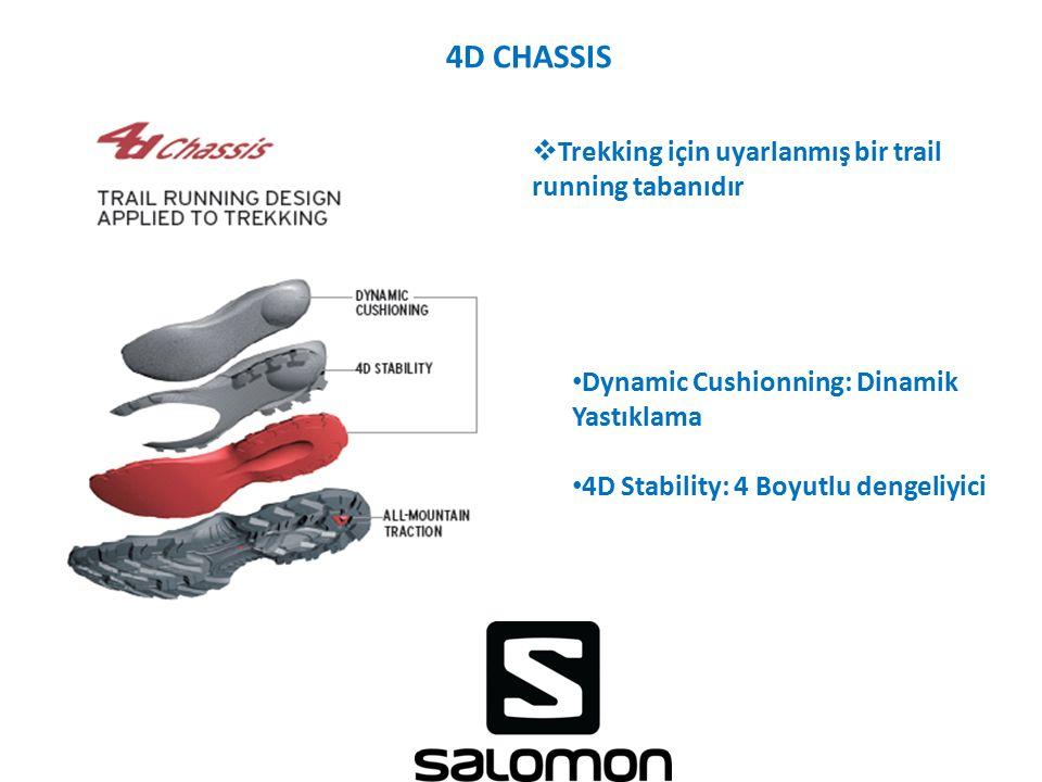 4D CHASSIS Trekking için uyarlanmış bir trail running tabanıdır