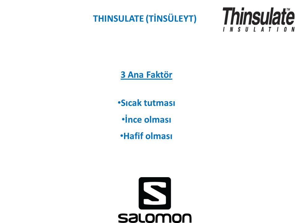 THINSULATE (TİNSÜLEYT)