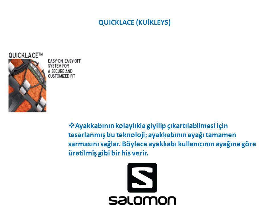QUICKLACE (KUİKLEYS)