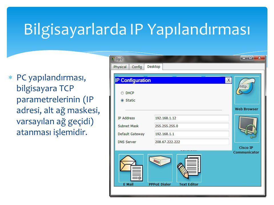 Bilgisayarlarda IP Yapılandırması