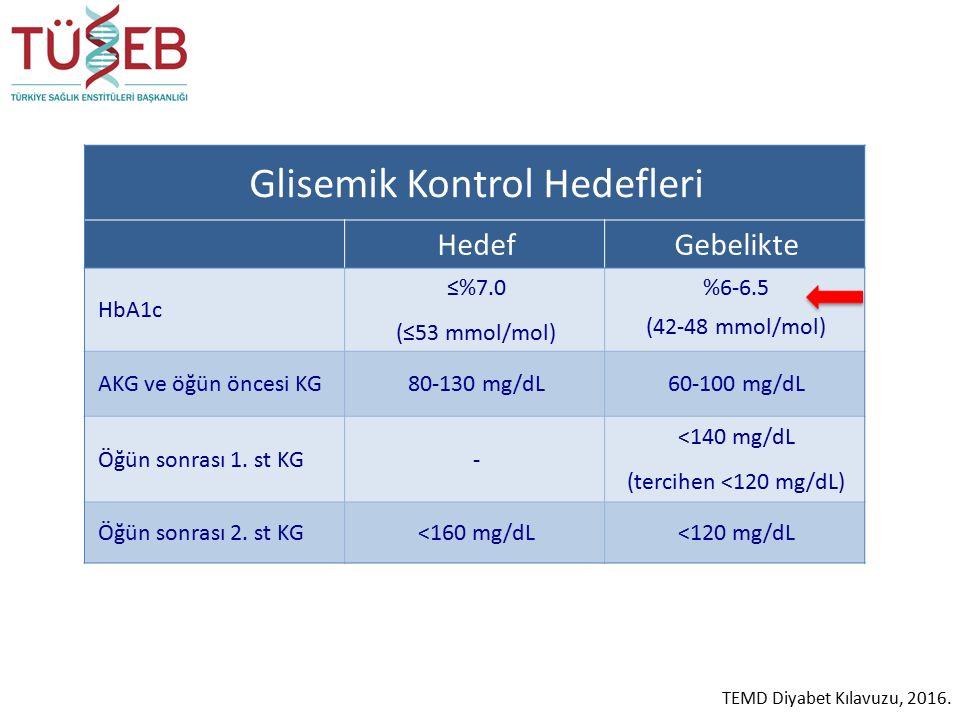 Glisemik Kontrol Hedefleri