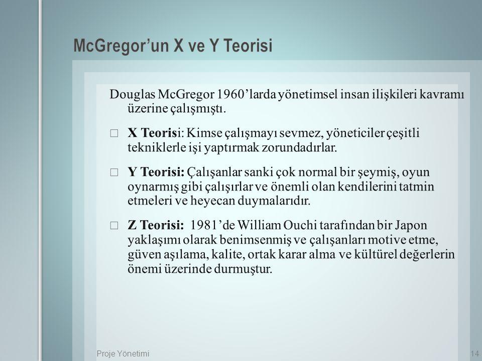 McGregor'un X ve Y Teorisi