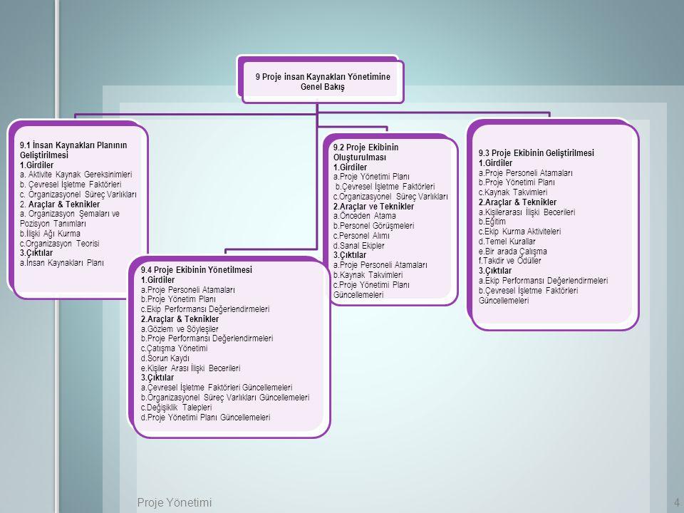 9 Proje insan Kaynakları Yönetimine Genel Bakış