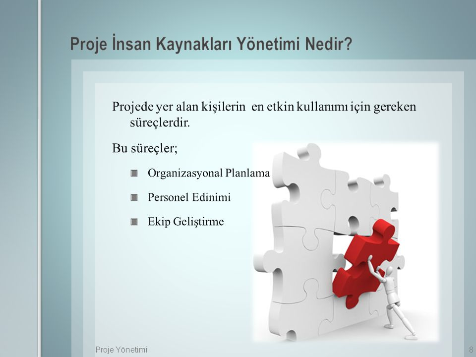 Proje İnsan Kaynakları Yönetimi Nedir
