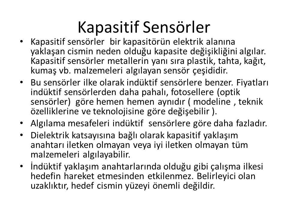 Kapasitif Sensörler
