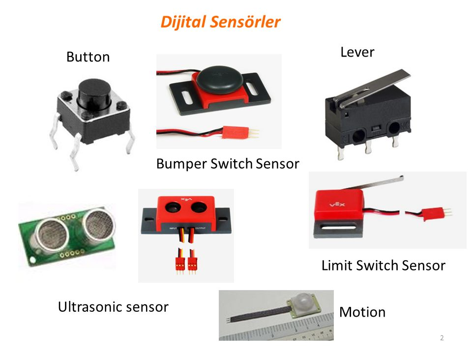 Dijital Sensörler Lever Button Bumper Switch Sensor