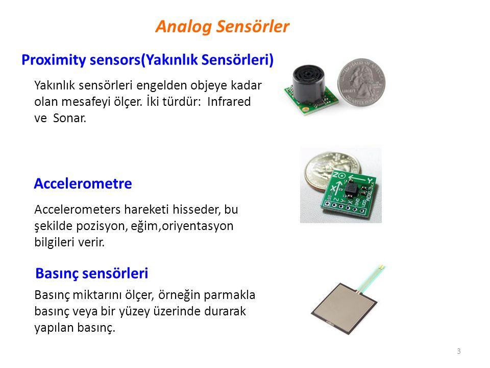 Analog Sensörler Proximity sensors(Yakınlık Sensörleri) Accelerometre