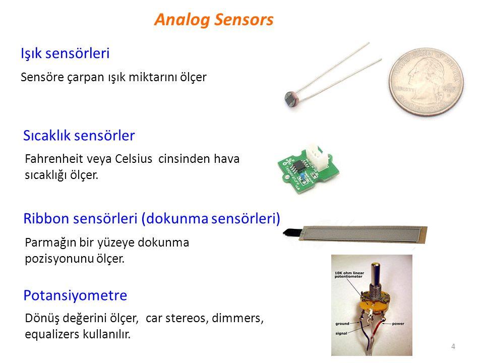 Analog Sensors Işık sensörleri Sıcaklık sensörler
