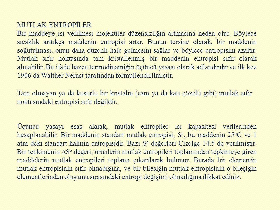 MUTLAK ENTROPİLER