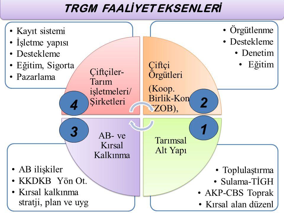 TRGM FAALİYET EKSENLERİ