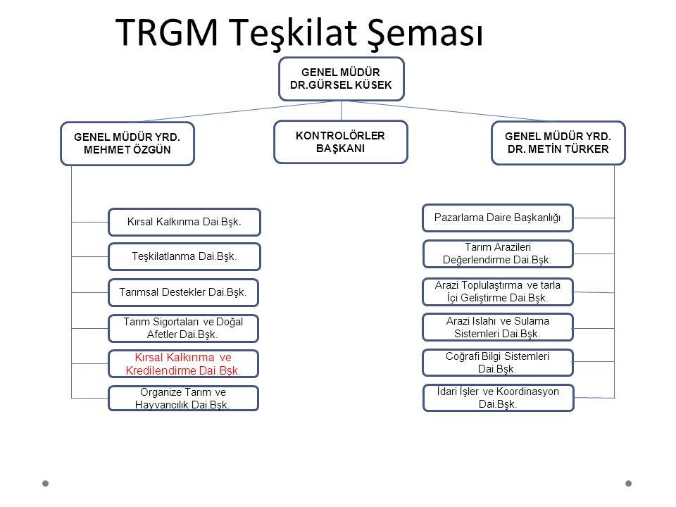 TRGM Teşkilat Şeması Kırsal Kalkınma ve Kredilendirme Dai.Bşk.