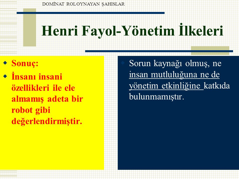 Henri Fayol-Yönetim İlkeleri
