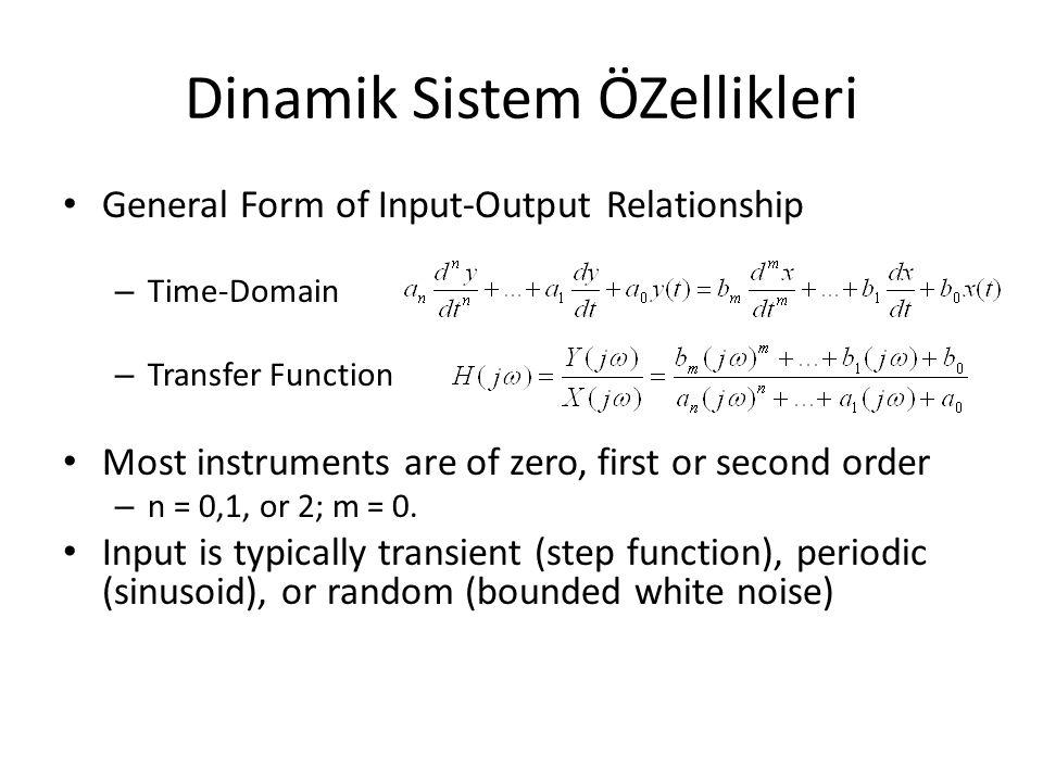 Dinamik Sistem ÖZellikleri