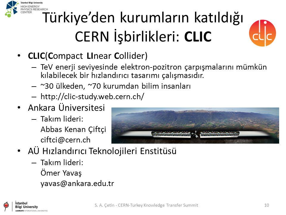 Türkiye'den kurumların katıldığı CERN İşbirlikleri: CLIC