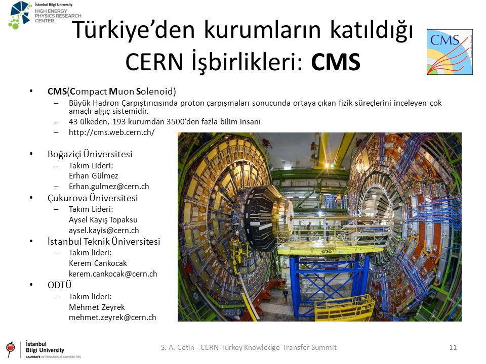 Türkiye'den kurumların katıldığı CERN İşbirlikleri: CMS