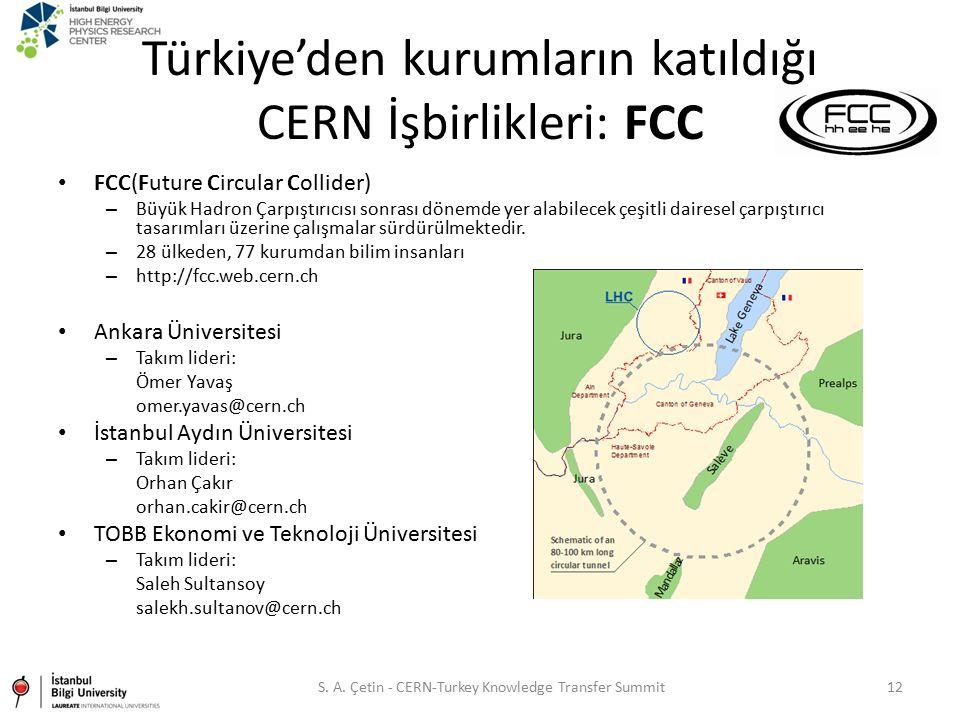 Türkiye'den kurumların katıldığı CERN İşbirlikleri: FCC