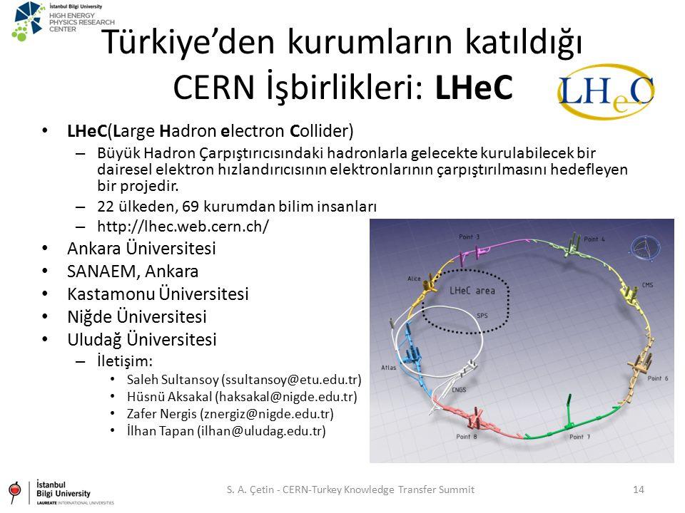 Türkiye'den kurumların katıldığı CERN İşbirlikleri: LHeC