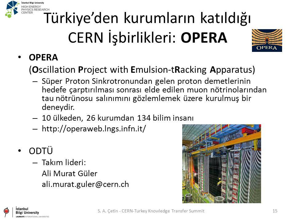 Türkiye'den kurumların katıldığı CERN İşbirlikleri: OPERA