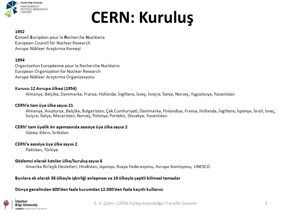 S. A. Çetin - CERN-Turkey Knowledge Transfer Summit