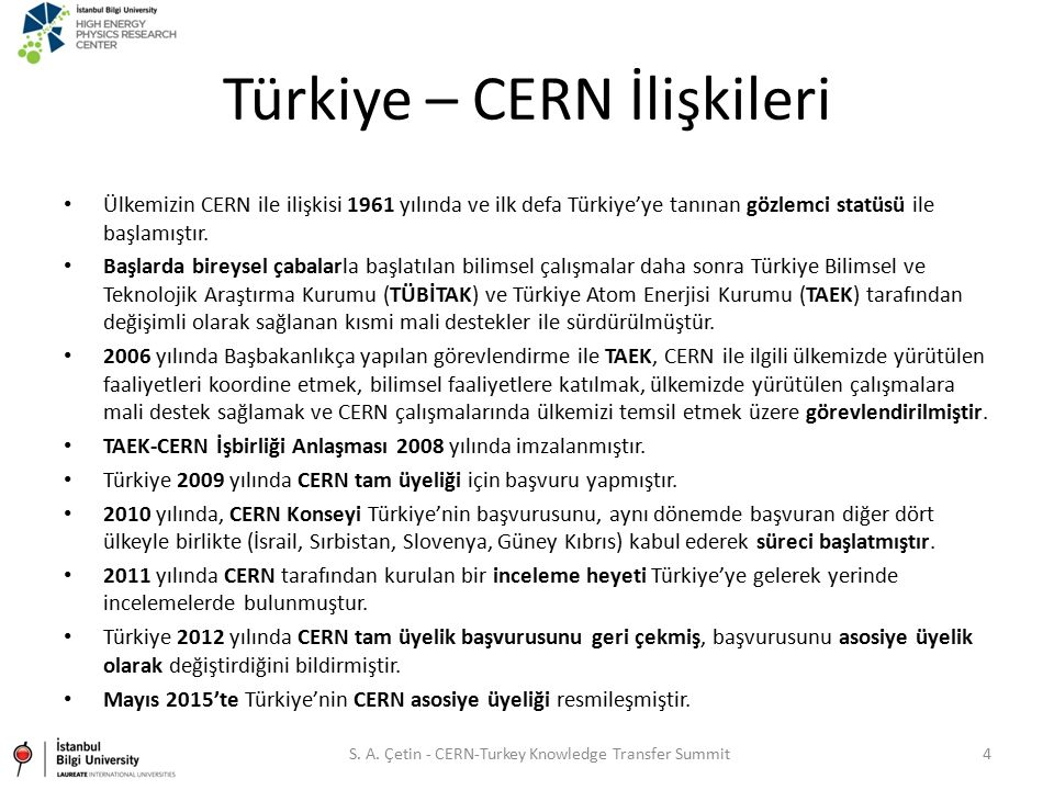 Türkiye – CERN İlişkileri