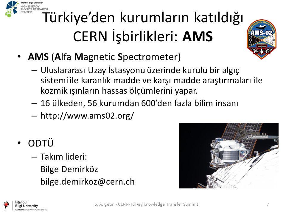 Türkiye'den kurumların katıldığı CERN İşbirlikleri: AMS