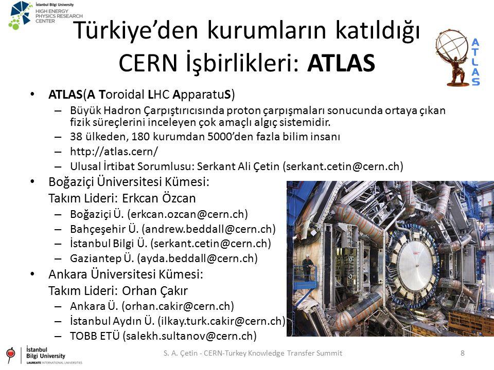 Türkiye'den kurumların katıldığı CERN İşbirlikleri: ATLAS