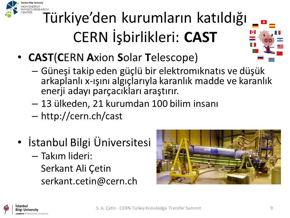 Türkiye'den kurumların katıldığı CERN İşbirlikleri: CAST