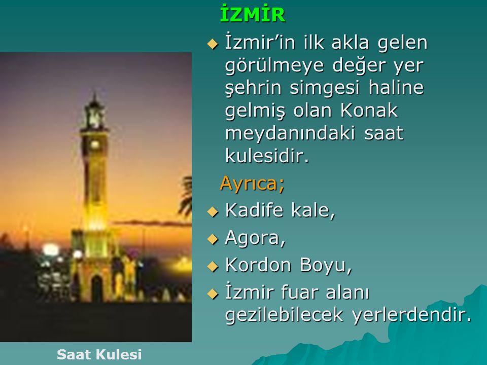 İzmir fuar alanı gezilebilecek yerlerdendir.