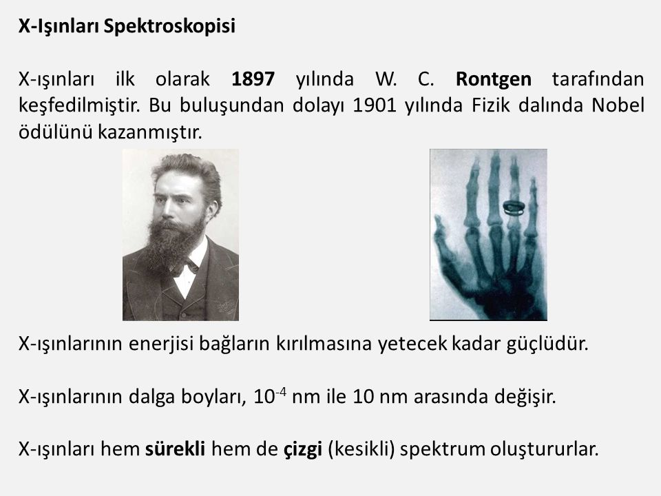 X-Işınları Spektroskopisi
