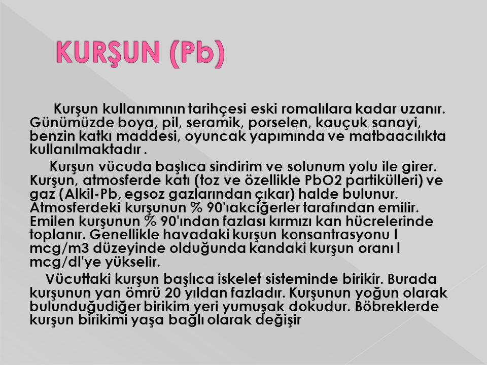 KURŞUN (Pb)