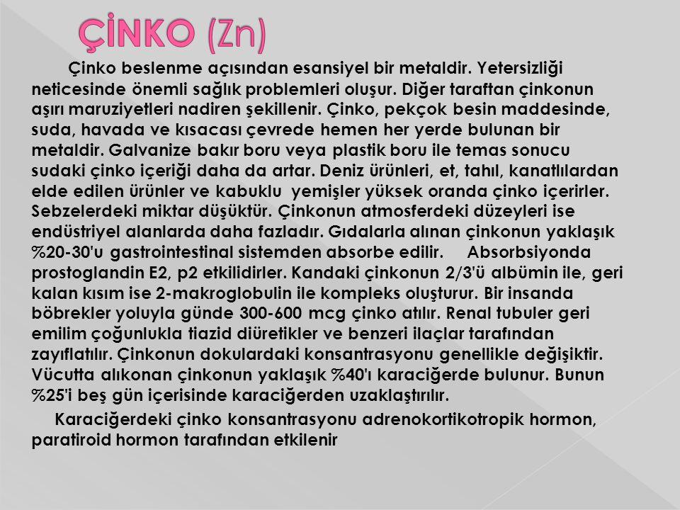 ÇİNKO (Zn)