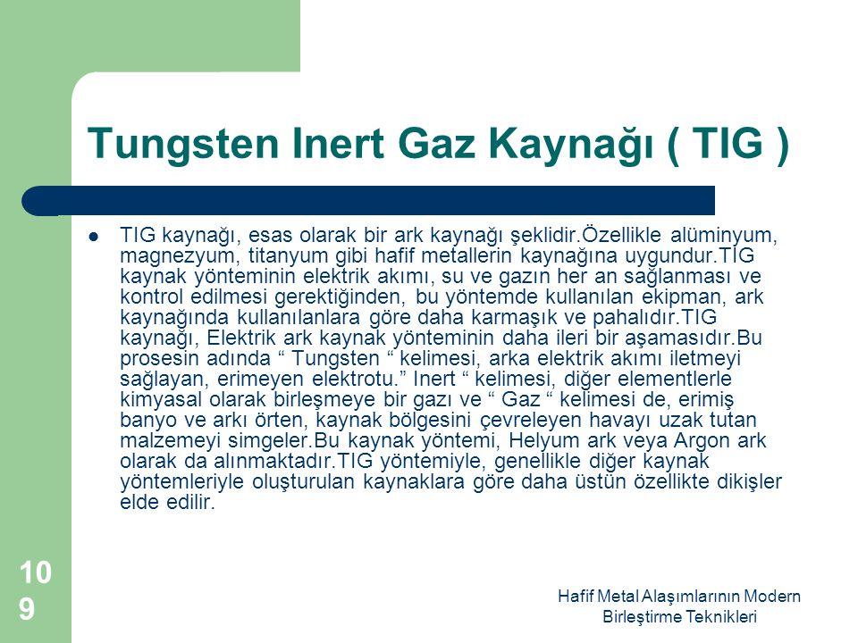 Tungsten Inert Gaz Kaynağı ( TIG )