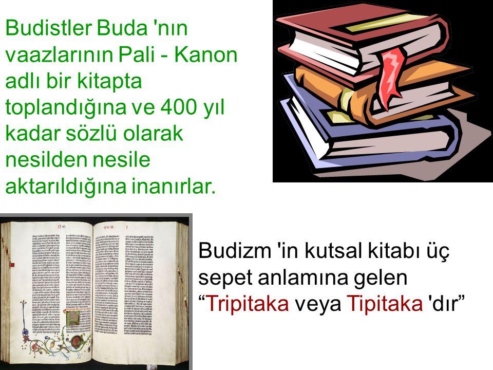 Budistler Buda nın vaazlarının Pali - Kanon adlı bir kitapta toplandığına ve 400 yıl kadar sözlü olarak nesilden nesile aktarıldığına inanırlar.