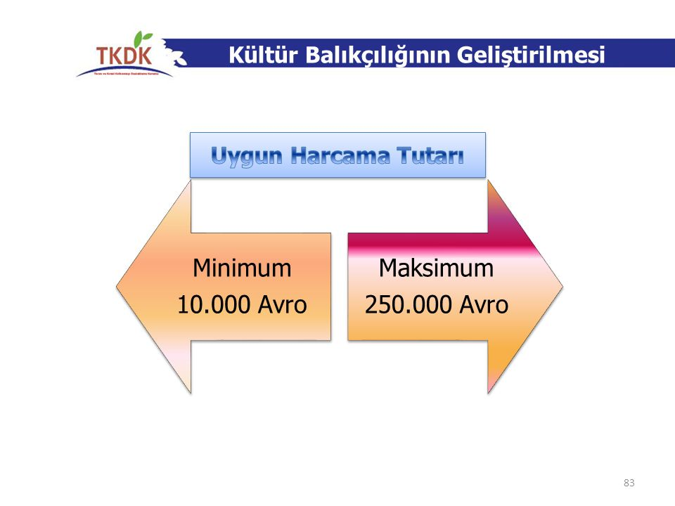 Minimum 10.000 Avro Maksimum 250.000 Avro