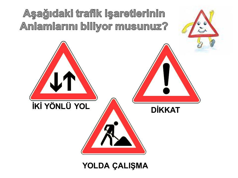 Aşağıdaki trafik işaretlerinin Anlamlarını biliyor musunuz