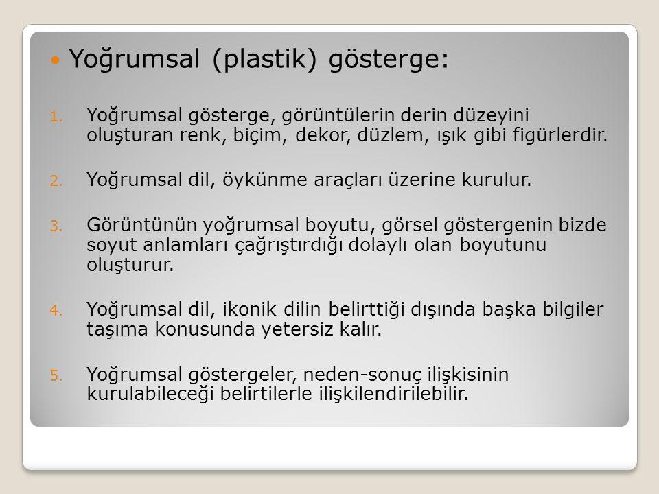 Yoğrumsal (plastik) gösterge: