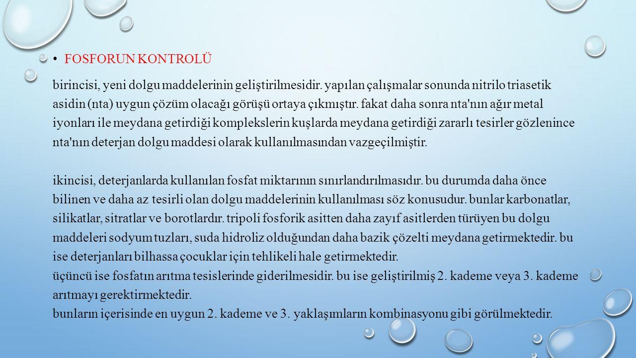 FOSFORUN KONTROLÜ