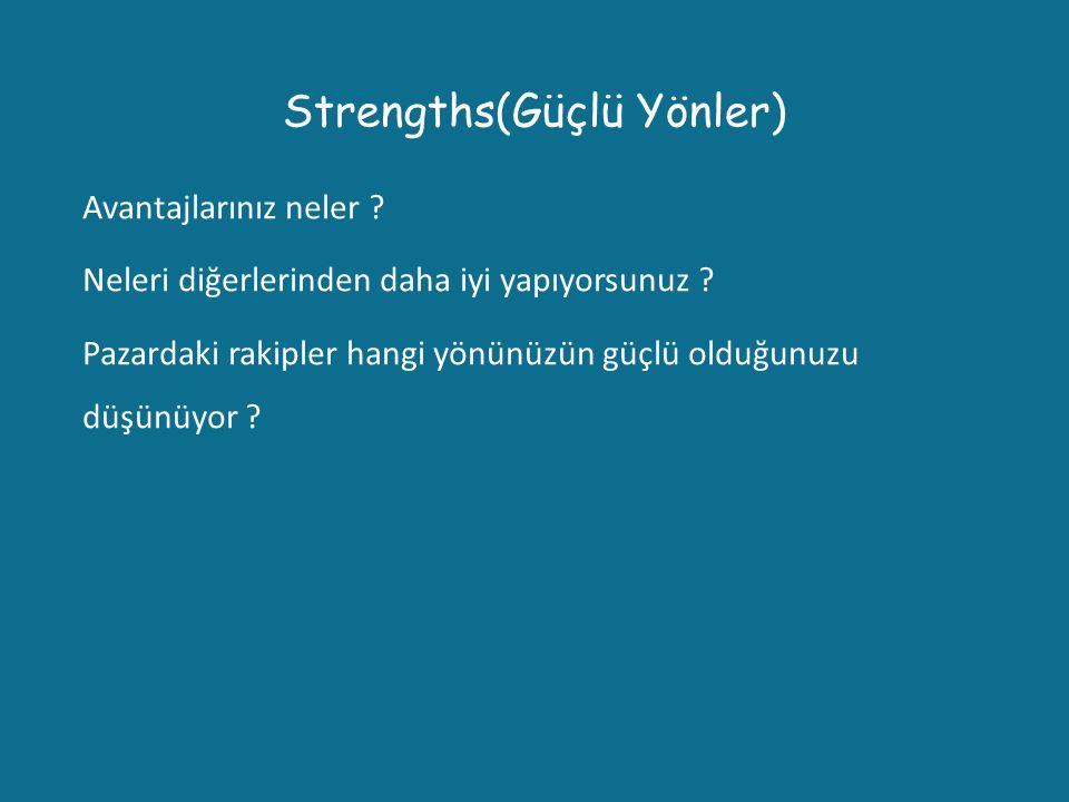 Strengths(Güçlü Yönler)