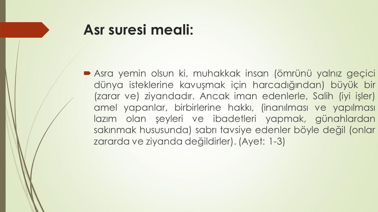 Asr suresi meali: